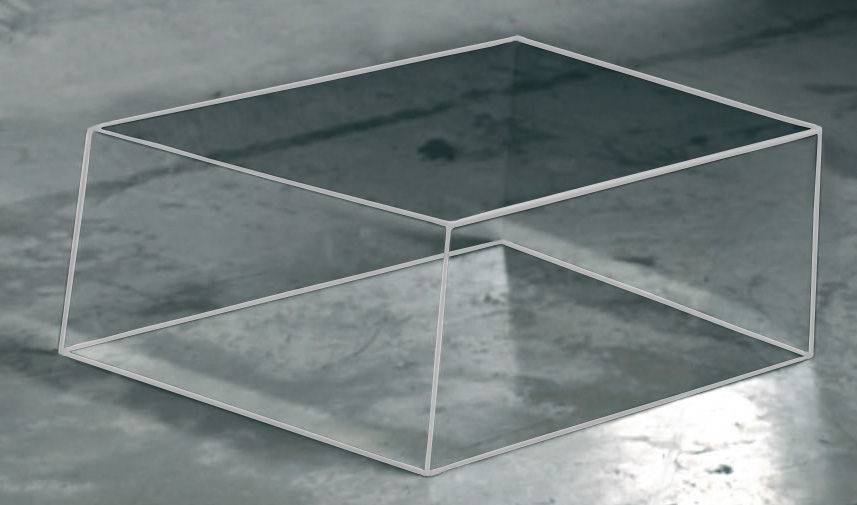 Furniture - Coffee Tables - Wireframe Coffee table - 60 x 57 cm by Glas Italia - Transparent - white edges - Tempered glass