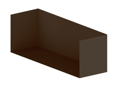 Furniture - Bookcases & Bookshelves - Crate - For library Easy Irony by Zeus - Bronze - Painted steel