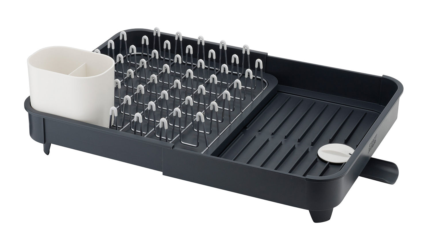 Kitchenware - Kitchen Sink Accessories - Extend Draining rack - Extensible by Joseph Joseph - Black - Plastic material, Steel