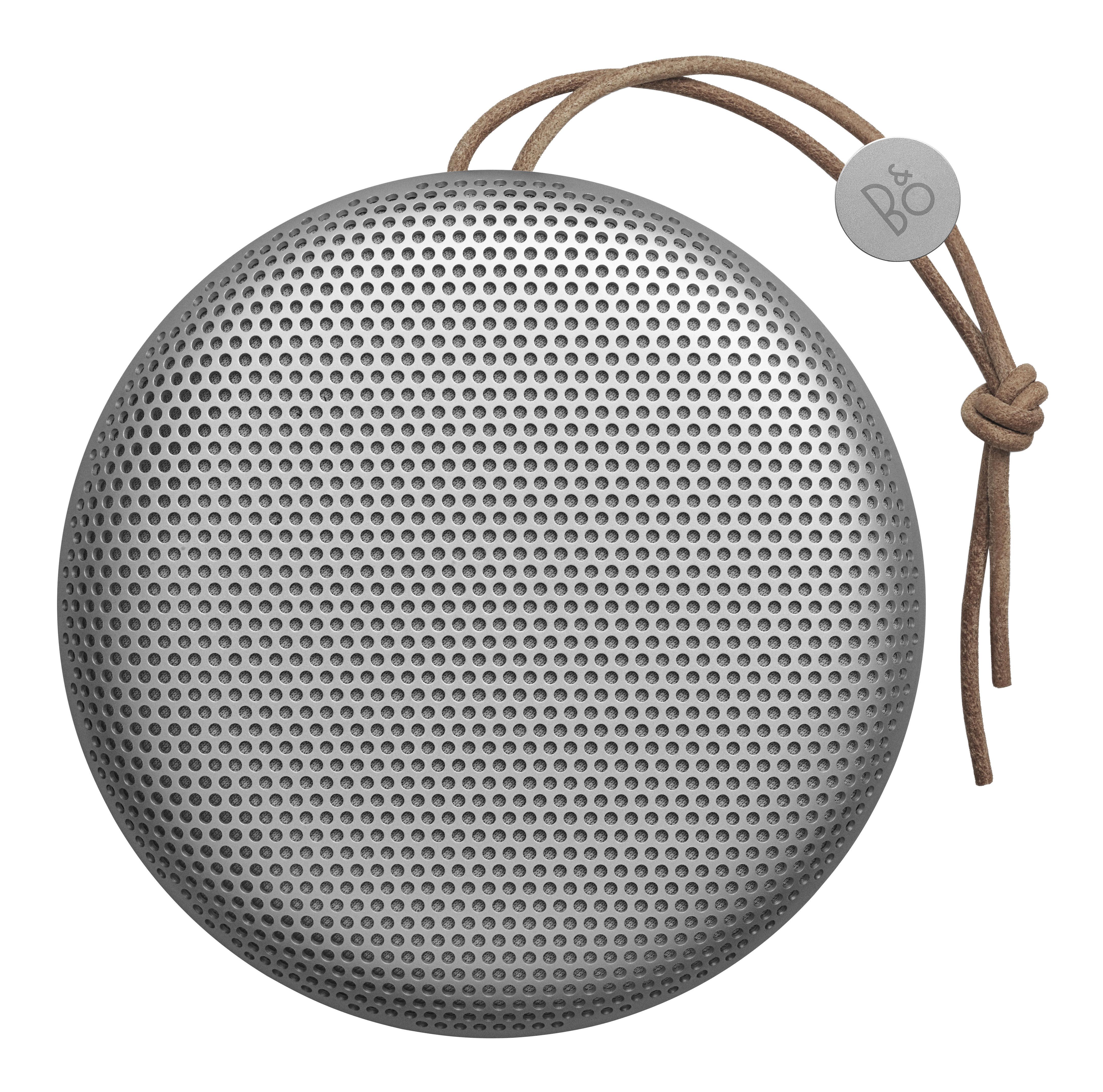 St-Valentin - Pour Elle - Enceinte Bluetooth Beoplay A1 / Sans fil - Poignée cuir - B&O PLAY by Bang & Olufsen - Gris / Cordon naturel - Aluminium, Cuir