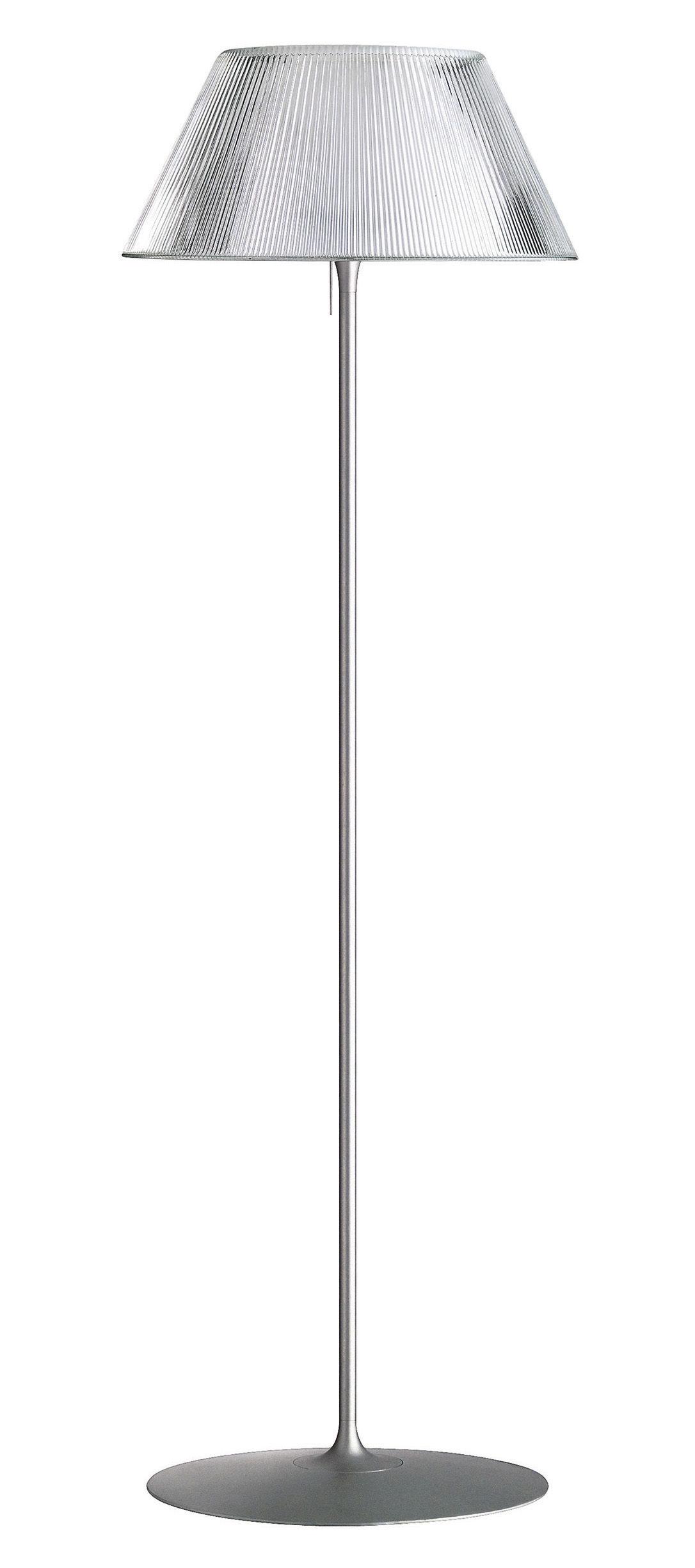 Lighting - Floor lamps - Romeo Moon F Floor lamp by Flos - Grey - Glass, Metal