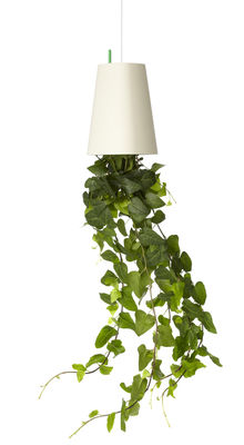 Decoration - Funny & surprising - Sky Planter - Polypropylene Medium - H 15 cm / Upside down planter by Boskke - White - Recycled polypropylene