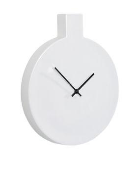 Déco - Horloges  - Horloge murale Label / L 24 x H 29,5 cm - Thelermont Hupton - Blanc / Aiguilles noires - Porcelaine de Chine