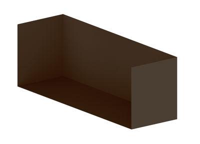 Möbel - Regale und Bücherregale - Kiste /  Für Easy Irony Bücherregal - L 100 cm - Zeus - Bronze - bemalter Stahl