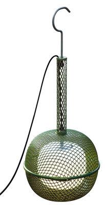 Illuminazione - Lampadari - Lampada nomade Noctiluque - / H 91 cm - Da appoggiare o da sospendere di Roger Pradier - Verde - Acciaio verniciato, Polipropilene