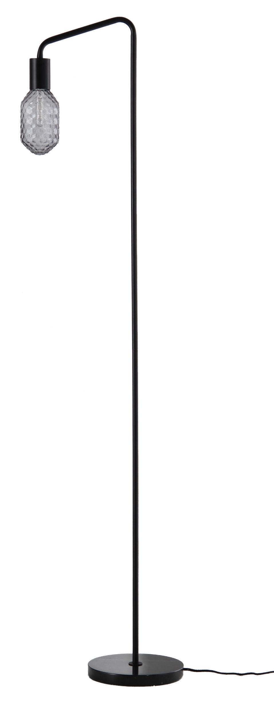 Luminaire - Lampadaires - Lampadaire Urban / Base marbre - Frandsen - Noir / Gris fumé - Marbre, Métal, Verre