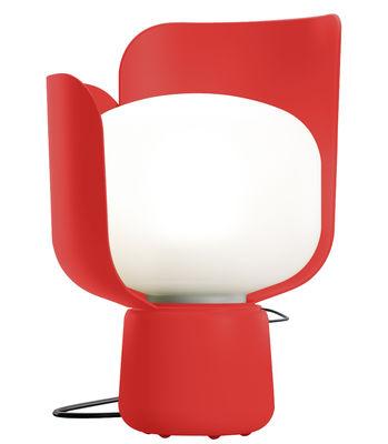 Luminaire - Lampes de table - Lampe de table Blom / H 24 cm - Fontana Arte - Rouge - Aluminium, Polycarbonate, Polyéthylène