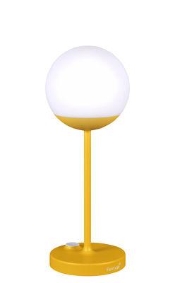 Lampe sans fil Mooon! LED / H 41 cm - Recharge USB - Fermob miel en métal