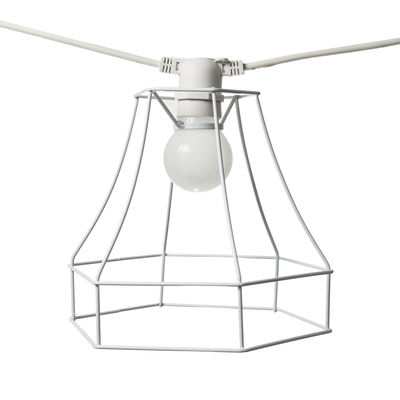 Lighting - Outdoor Lighting - Lampshade - Square - For Bella Vista garland by Seletti - Square - White - Painted metal