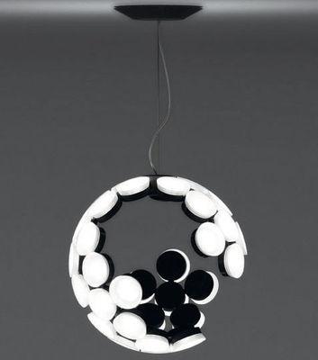 Leuchten - Pendelleuchten - Scopas LED Pendelleuchte - Artemide - Weiß / innen schwarz - Aluminium, Thermoplastique