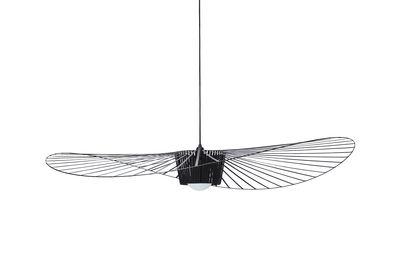 Leuchten - Pendelleuchten - Vertigo Pendelleuchte klein / Ø 140 cm - Petite Friture - Schwarz - Glasfaser, Polyurhethan