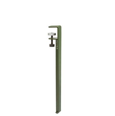 Pied avec fixation étau / H 43 cm - Pour créer tables basse & banc - TIPTOE vert en métal