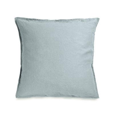 Decoration - Bedding & Bath Towels - pillowcase 65 x 65 cm - / 65 x 65 cm - Washed linen by Au Printemps Paris - Grey-blue - washed linen