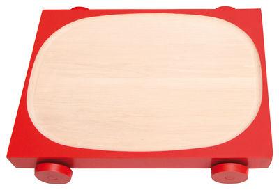 Arts de la table - Plats - Plat Kart - K06 sur roues / 34,5 x 25 cm - Y'a pas le feu au lac - Rouge - Bois de charme