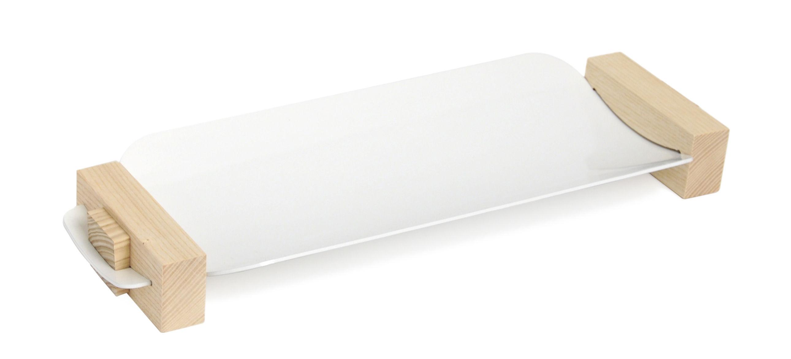 Arts de la table - Plateaux - Plateau Assemblage Small / Vide-poche - L 37 cm - Y'a pas le feu au lac - Small / Blanc - Frêne, Métal laqué