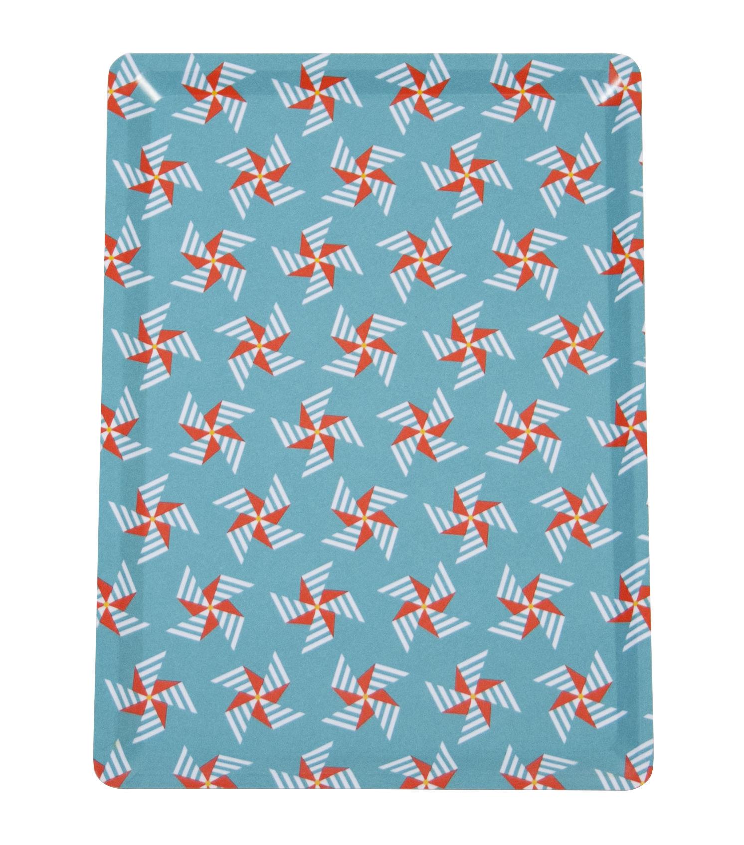 Arts de la table - Plateaux - Plateau Moulin à vent / 28 x 20 cm - Fermob - Bleu Lagune - Stratifié-mélaminé