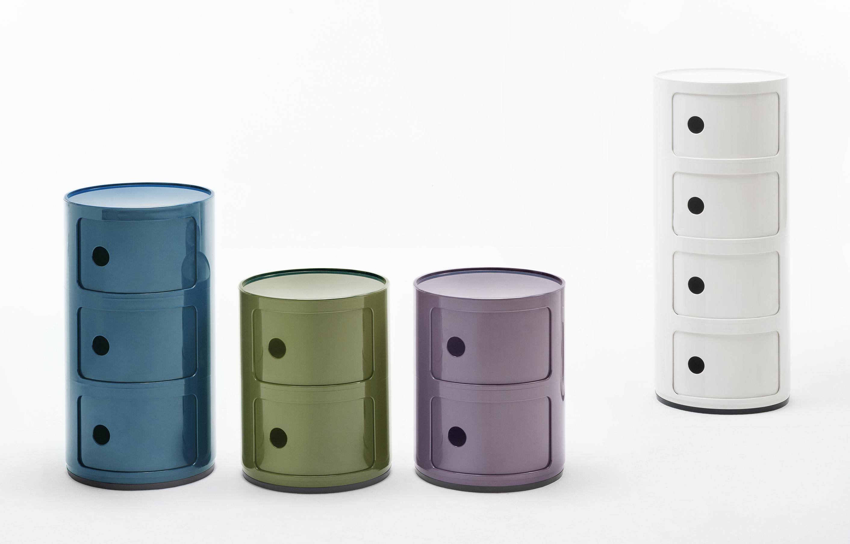Portaoggetti componibili kartell viola h Ø made in