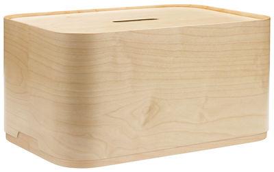 Dekoration - Schachteln und Boxen - Vakka Schachtel / 45 x 30 x H 23 cm - Iittala - Holzfarben - Furnier