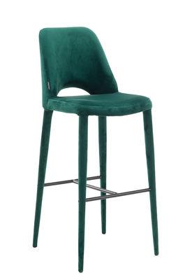 Arredamento - Sgabelli da bar  - Sedia da bar Holy - / Velluto - H 75 cm di Pols Potten - Verde - Espanso, Metallo, Velluto