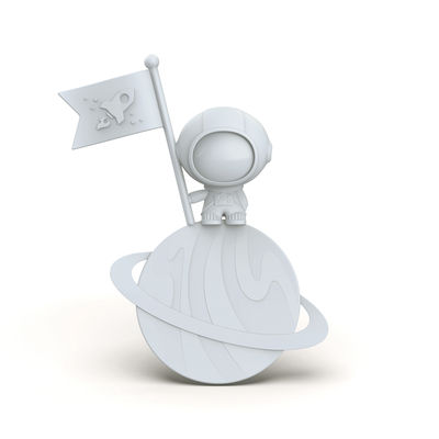 Accessori moda - Accessori ufficio - Segnalibro Spacemark - / Cosmonauta di Pa Design - Bianco - Polipropilene