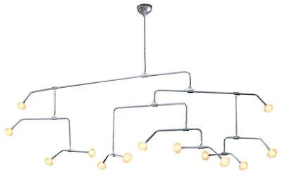 Illuminazione - Lampadari - Sospensione Fireworks di Driade Kosmo - Acciaio - vetro soffiato