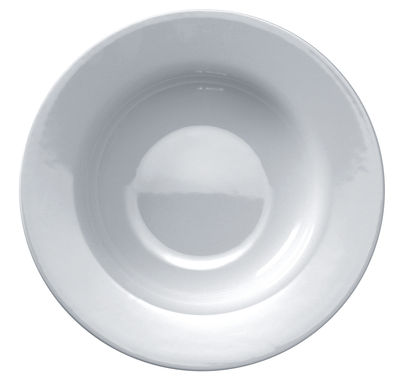 Tableware - Plates - Platebowlcup Soup plate by A di Alessi - White - China