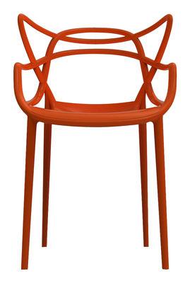 Möbel - Stühle  - Masters Stapelbarer Sessel - Kartell - Terracotta-rot - Polypropylen