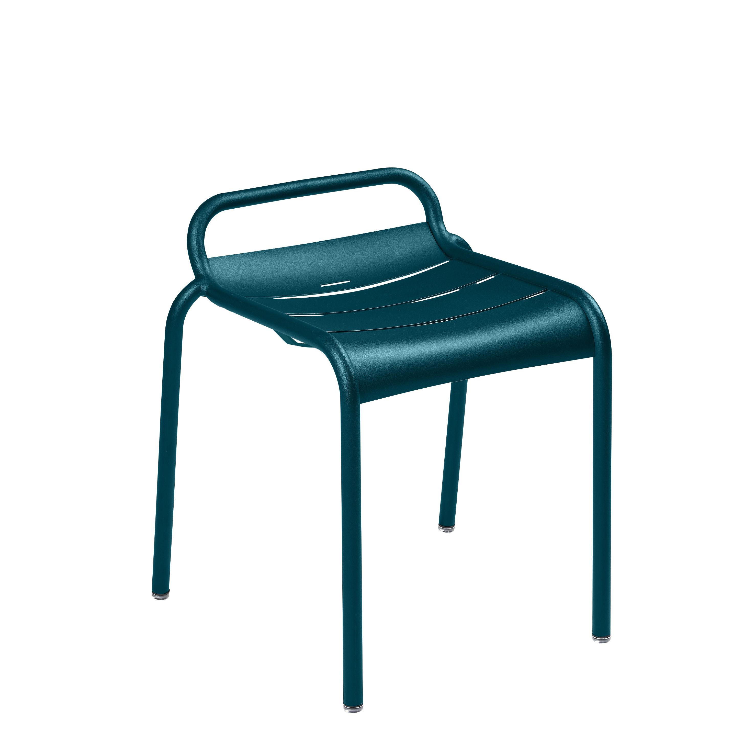 Möbel - Hocker - Luxembourg Stappelbarer Hocker / Aluminium - Fermob - Acapulcoblau - bemaltes Aluminium