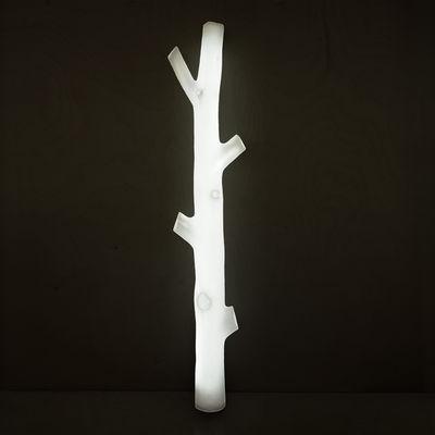 Lampe D+I Stehleuchte / Polyäthylen - H 128 cm - Presse citron - Weiß