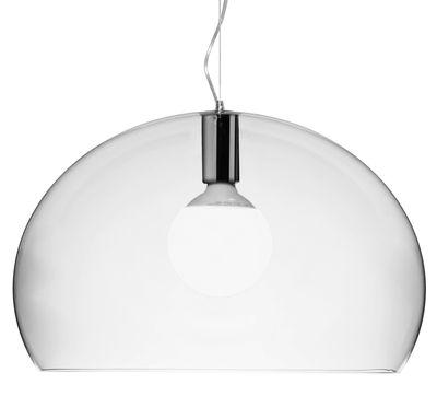 Luminaire - Suspensions - Suspension Big FL/Y / Ø 83 cm - Kartell - Cristal - PMMA teinté dans la masse
