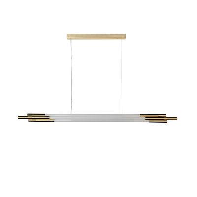 Suspension ORG Horizontal Medium / LED - L 160 cm / Verre - DCW éditions blanc,laiton en verre