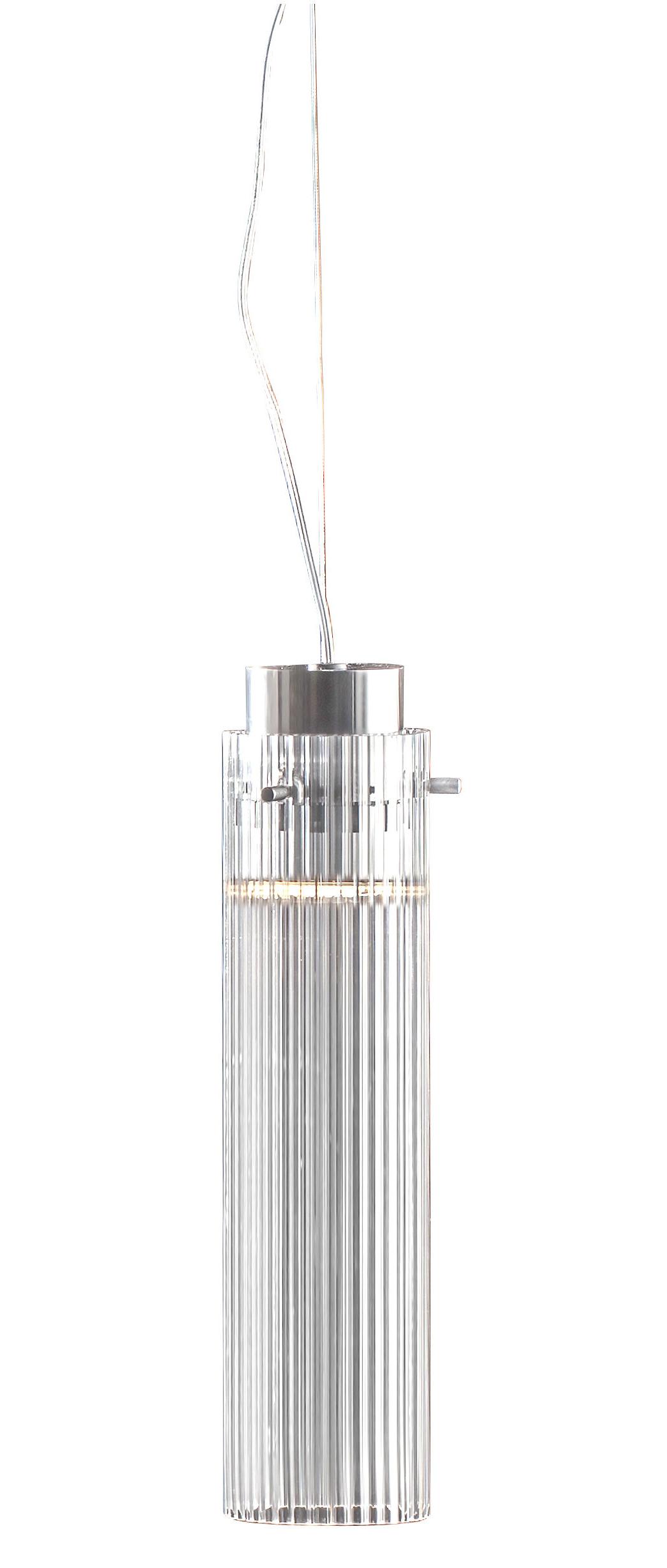Luminaire - Suspensions - Suspension Rifly / LED - H 30 cm - Kartell - Cristal - Polycarbonate plissé