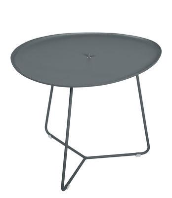 Table basse Cocotte / L 55 x H 43,5 cm - Plateau amovible - Fermob gris orage en métal