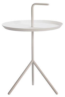 Mobilier - Tables basses - Table basse Don't Leave Me / Ø 38 x H 58 cm - Hay - Blanc - Acier laqué