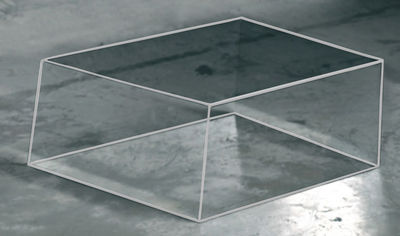 Table basse Wireframe 60 x 57 cm - Glas Italia blanc,transparent en verre