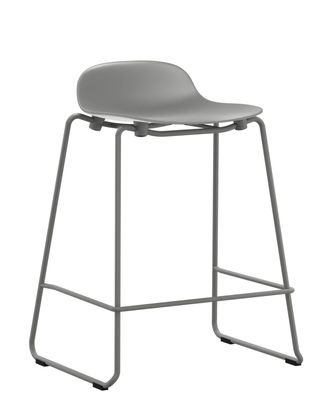 tabouret de bar form empilable pied m tal h 65 cm gris normann copenhagen made in design. Black Bedroom Furniture Sets. Home Design Ideas
