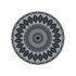 Tappeto Black Bombay n°3 - / Ø 99 cm - Vinile di PÔDEVACHE