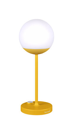 Lighting - Table Lamps - Mooon! LED Wireless lamp - / H 41 cm - USB recharging by Fermob - Honey - Aluminium, Polythene