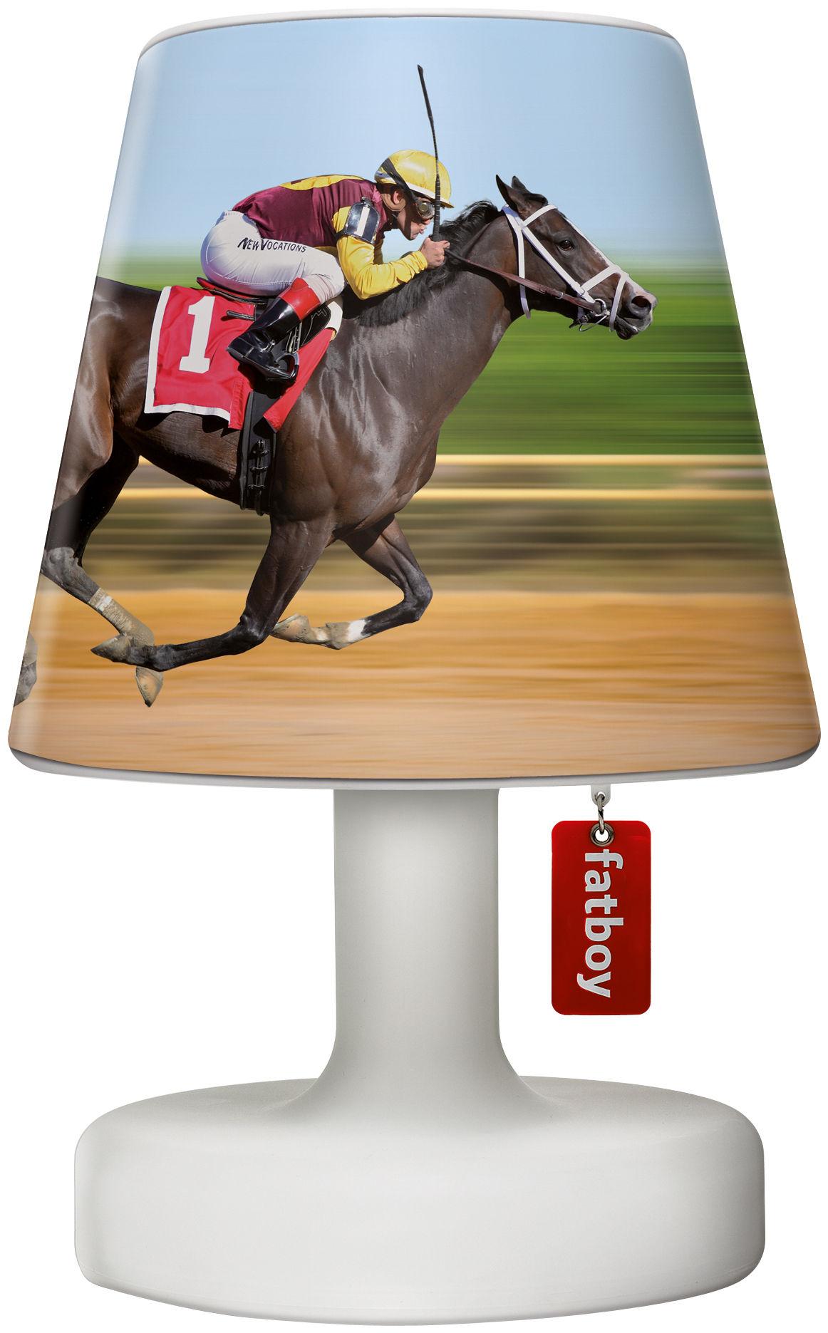 Luminaire - Lampes de table - Abat-jour Cooper Cappie / Pour lampe Edison the Petit - Fatboy - Horse race / Chevaux multicolores - Polypropylène