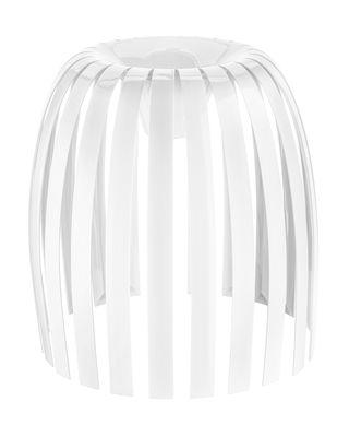 Abat-jour Josephine XL / Ø 50 x H 47,5 cm - Koziol blanc opaque en matière plastique