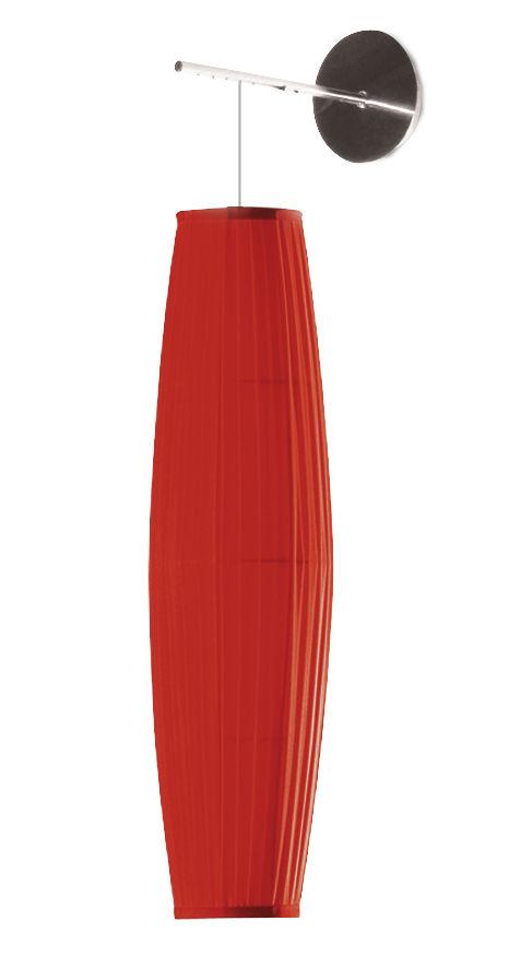 Luminaire - Appliques - Applique Colonne / H 62 cm - Tissu - Dix Heures Dix - H 62 cm / Rouge - Acier chromé, Tissu polyester