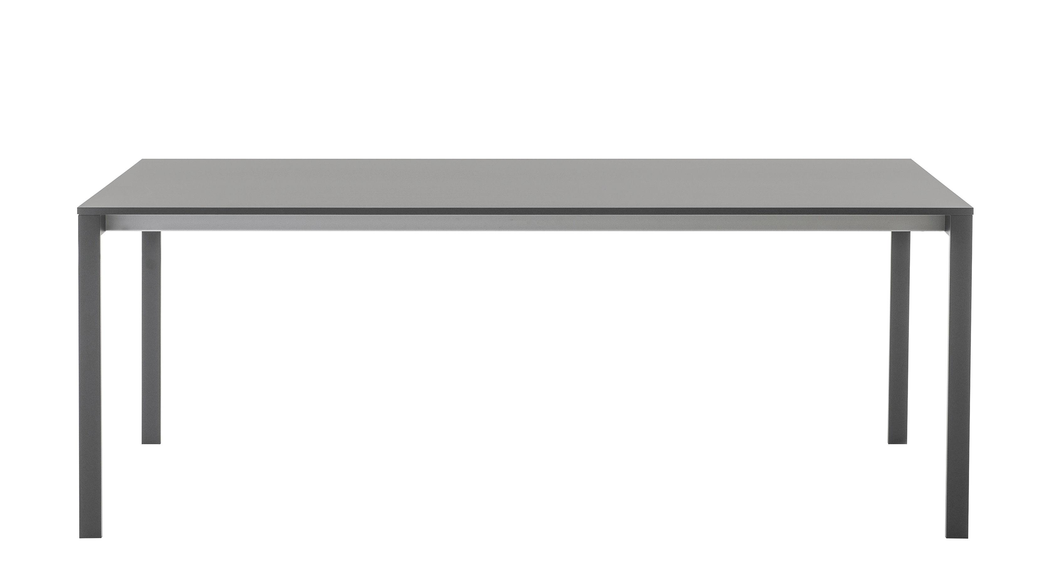Möbel - Tische - be-Easy Ausziehtisch / L 150 bis 230 cm - Tischplatte Fenix-NTM® - Kristalia - Grau - Fenix-NTM®, geschichtet, lackierter Stahl