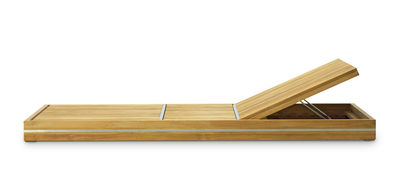 Bain de soleil Essenza / Multiposition - Roulettes - Ethimo acier brossé,teck naturel en bois