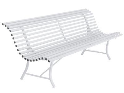 Banc avec dossier Louisiane / L 200 cm - Métal - Fermob blanc coton en métal