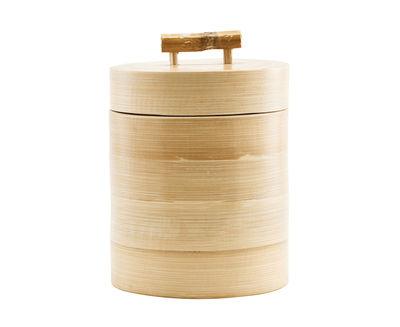 Boîte Bamboo / Ø 12 x H 15 cm - House Doctor bambou en bois