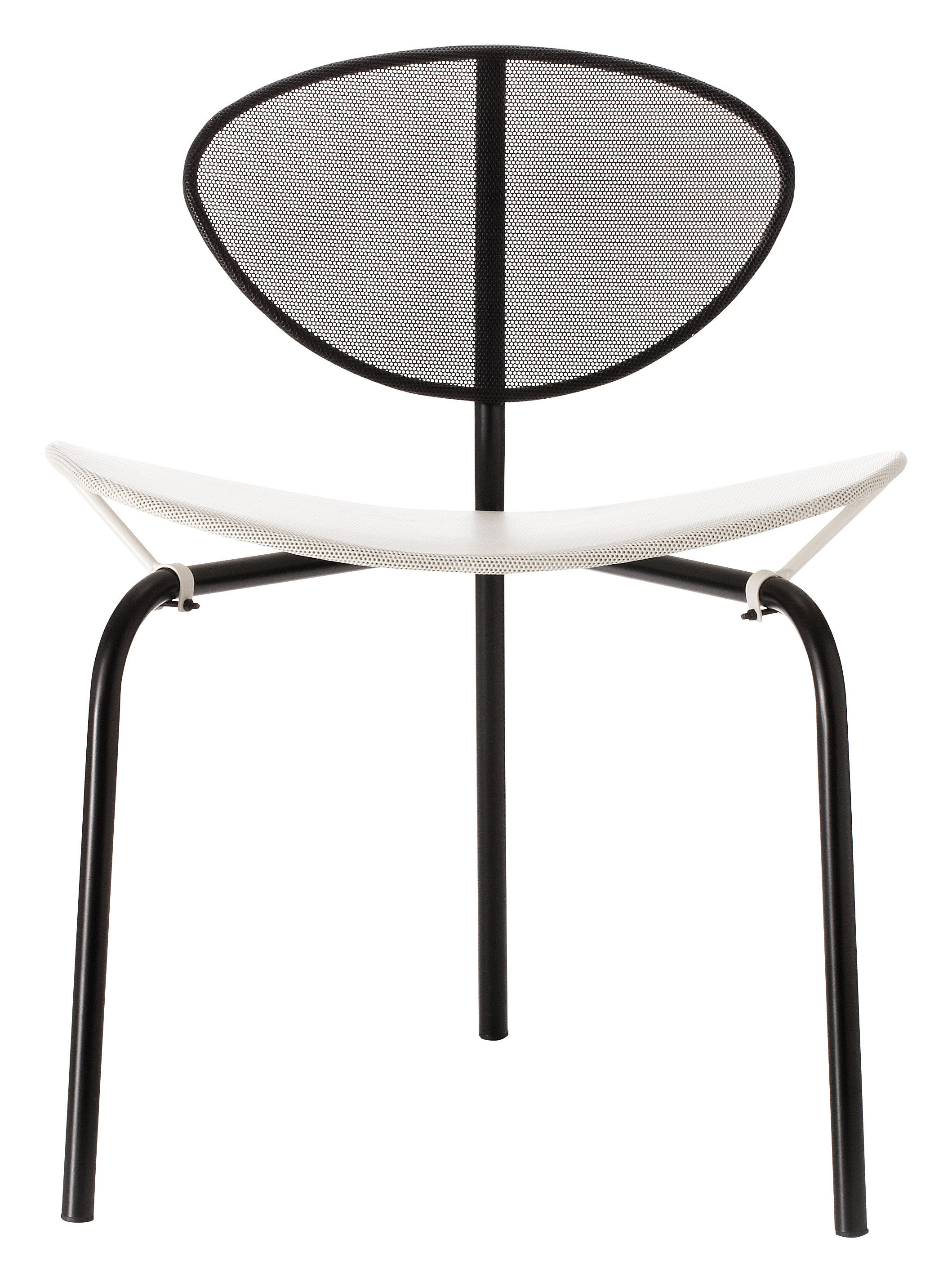 Furniture - Chairs - Nagasaki Chair - Reissue 1954 by Gubi - White / Black structure - Stainless steel