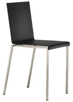 Chaise Bianca / Résine mate & pieds métal - Zeus acier,noir mat en matière plastique
