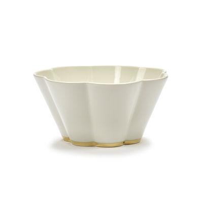 Tavola - Tazze e Boccali - Ciotola Désirée Large - / Ø 15 x H 8 cm di Serax - Grande / bianco e oro - Porcellana