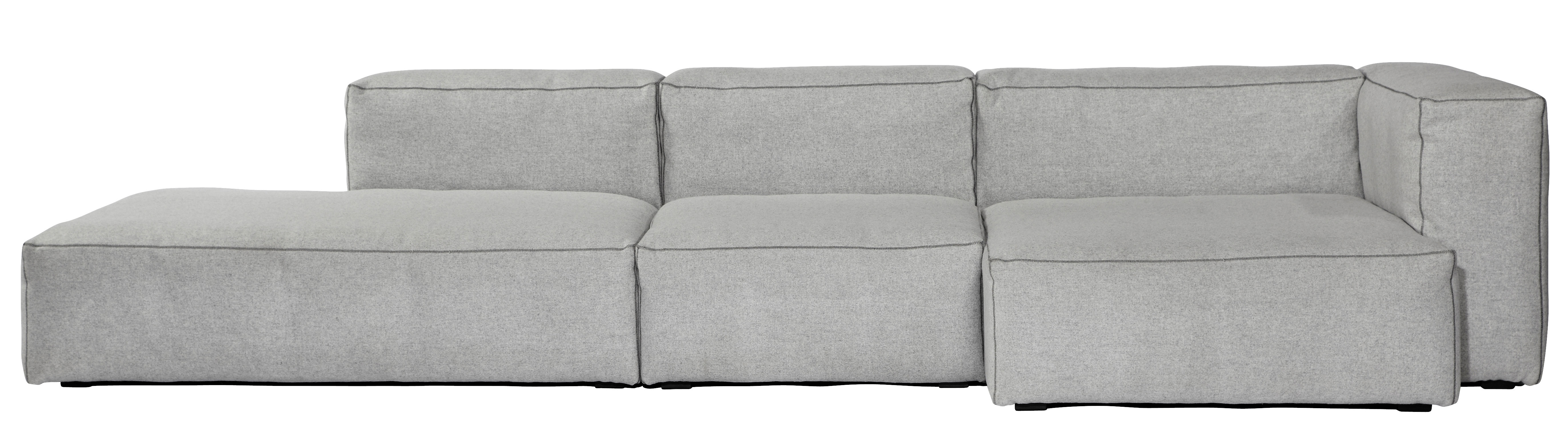 Furniture - Sofas - Soft Mags Corner sofa - Right armrest - L 314 cm by Hay - Light grey / Right armrest - Goose feather, Kvadrat fabric, Particle board, Super soft foam