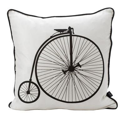 Déco - Coussins - Coussin Vélo / 50 x 50 cm - Ferm Living - Motif monocycle - Dos noir - Soie